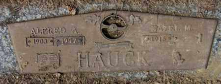 HAUCK, HAZEL M. - Yankton County, South Dakota | HAZEL M. HAUCK - South Dakota Gravestone Photos