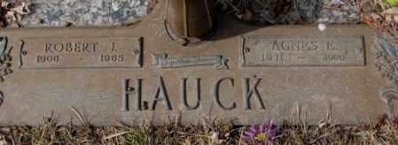 HAUCK, AGNES E. - Yankton County, South Dakota   AGNES E. HAUCK - South Dakota Gravestone Photos