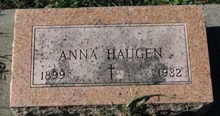 HAUGEN, ANNA - Yankton County, South Dakota   ANNA HAUGEN - South Dakota Gravestone Photos