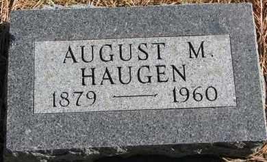 HAUGEN, AUGUST M. - Yankton County, South Dakota   AUGUST M. HAUGEN - South Dakota Gravestone Photos