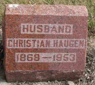 HAUGEN, CHRISTIAN - Yankton County, South Dakota | CHRISTIAN HAUGEN - South Dakota Gravestone Photos