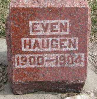 HAUGEN, EVEN - Yankton County, South Dakota | EVEN HAUGEN - South Dakota Gravestone Photos
