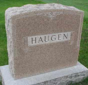HAUGEN, FAMILY STONE - Yankton County, South Dakota   FAMILY STONE HAUGEN - South Dakota Gravestone Photos