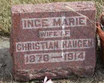 HAUGEN, INGE MARIE - Yankton County, South Dakota   INGE MARIE HAUGEN - South Dakota Gravestone Photos