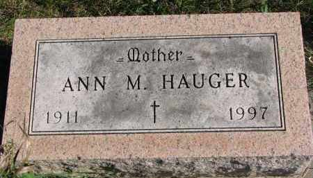 HAUGER, ANN M. - Yankton County, South Dakota | ANN M. HAUGER - South Dakota Gravestone Photos