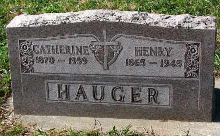 HAUGER, HENRY - Yankton County, South Dakota | HENRY HAUGER - South Dakota Gravestone Photos