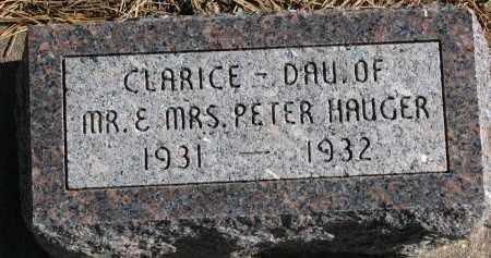 HAUGER, CLARICE - Yankton County, South Dakota | CLARICE HAUGER - South Dakota Gravestone Photos