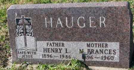 HAUGER, M. FRANCES - Yankton County, South Dakota | M. FRANCES HAUGER - South Dakota Gravestone Photos