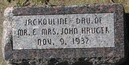 HAUGER, JACKOULINE - Yankton County, South Dakota   JACKOULINE HAUGER - South Dakota Gravestone Photos