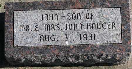 HAUGER, JOHN - Yankton County, South Dakota | JOHN HAUGER - South Dakota Gravestone Photos