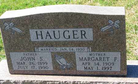 HAUGER, JOHN S. - Yankton County, South Dakota | JOHN S. HAUGER - South Dakota Gravestone Photos
