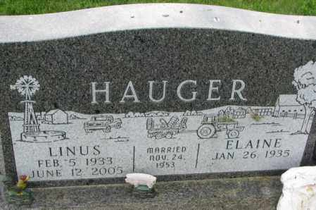HAUGER, LINUS - Yankton County, South Dakota | LINUS HAUGER - South Dakota Gravestone Photos