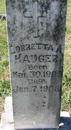 HAUGER, LORRETTA A. - Yankton County, South Dakota | LORRETTA A. HAUGER - South Dakota Gravestone Photos