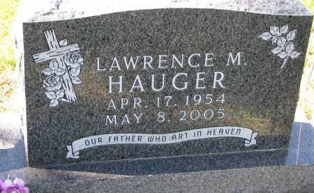 HAUGER, LAWRENCE M. - Yankton County, South Dakota   LAWRENCE M. HAUGER - South Dakota Gravestone Photos