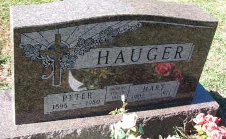HAUGER, PETER - Yankton County, South Dakota | PETER HAUGER - South Dakota Gravestone Photos