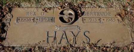 HAYS, GERTRUDE - Yankton County, South Dakota | GERTRUDE HAYS - South Dakota Gravestone Photos