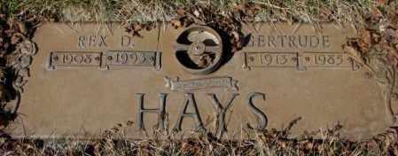 HAYS, REX D. - Yankton County, South Dakota   REX D. HAYS - South Dakota Gravestone Photos