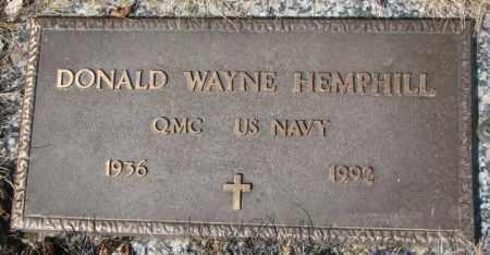 HEMPHILL, DONALD WAYNE - Yankton County, South Dakota | DONALD WAYNE HEMPHILL - South Dakota Gravestone Photos