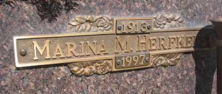 HERFKENS, MARINA M. - Yankton County, South Dakota | MARINA M. HERFKENS - South Dakota Gravestone Photos