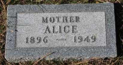 HEVLE, ALICE - Yankton County, South Dakota   ALICE HEVLE - South Dakota Gravestone Photos