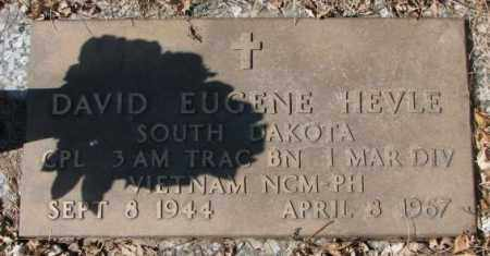 HEVLE, DAVID EUGENE (MILITARY) - Yankton County, South Dakota   DAVID EUGENE (MILITARY) HEVLE - South Dakota Gravestone Photos