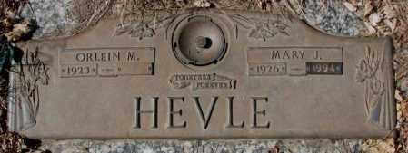 HEVLE, MARY J. - Yankton County, South Dakota   MARY J. HEVLE - South Dakota Gravestone Photos