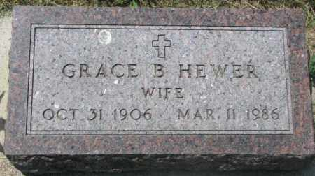 HEWER, GRACE B. - Yankton County, South Dakota | GRACE B. HEWER - South Dakota Gravestone Photos