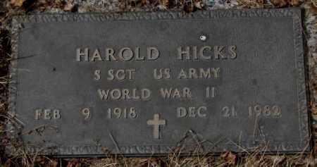 HICKS, HAROLD - Yankton County, South Dakota | HAROLD HICKS - South Dakota Gravestone Photos