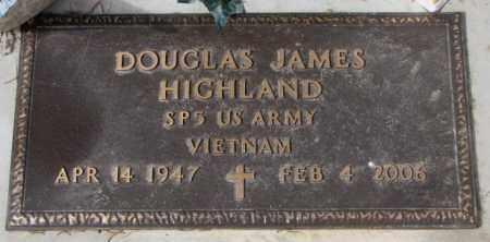 HIGHLAND, DOUGLAS JAMES - Yankton County, South Dakota   DOUGLAS JAMES HIGHLAND - South Dakota Gravestone Photos