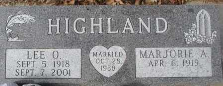 HIGHLAND, LEE O. - Yankton County, South Dakota | LEE O. HIGHLAND - South Dakota Gravestone Photos