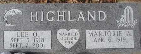 HIGHLAND, MARJORIE A. - Yankton County, South Dakota | MARJORIE A. HIGHLAND - South Dakota Gravestone Photos