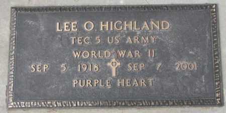 HIGHLAND, LEE O. (WW II) - Yankton County, South Dakota   LEE O. (WW II) HIGHLAND - South Dakota Gravestone Photos