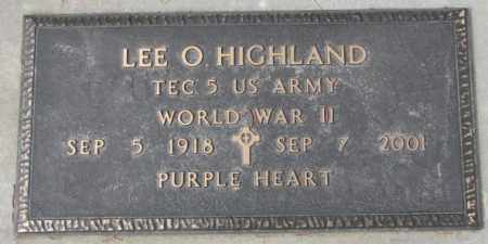 HIGHLAND, LEE O. (WW II) - Yankton County, South Dakota | LEE O. (WW II) HIGHLAND - South Dakota Gravestone Photos