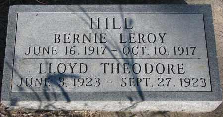 HILL, BERNIE LEROY - Yankton County, South Dakota   BERNIE LEROY HILL - South Dakota Gravestone Photos