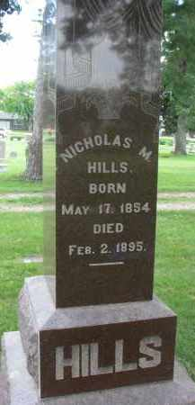 HILLS, NICHOLAS M. - Yankton County, South Dakota | NICHOLAS M. HILLS - South Dakota Gravestone Photos