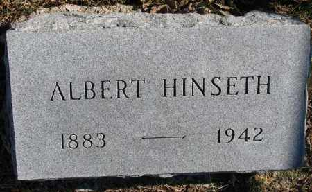 HINSETH, ALBERT - Yankton County, South Dakota   ALBERT HINSETH - South Dakota Gravestone Photos