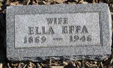 HINSETH, ELLA EFFA - Yankton County, South Dakota | ELLA EFFA HINSETH - South Dakota Gravestone Photos
