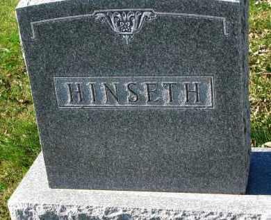HINSETH, FAMILY STONE - Yankton County, South Dakota   FAMILY STONE HINSETH - South Dakota Gravestone Photos
