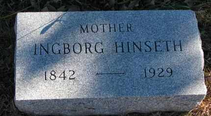 HINSETH, INGBORG - Yankton County, South Dakota | INGBORG HINSETH - South Dakota Gravestone Photos