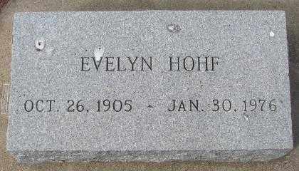 HOHF, EVELYN - Yankton County, South Dakota | EVELYN HOHF - South Dakota Gravestone Photos