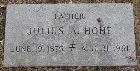 HOHF, JULIUS A. - Yankton County, South Dakota | JULIUS A. HOHF - South Dakota Gravestone Photos