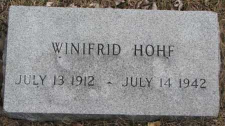 HOHF, WINIFRID - Yankton County, South Dakota   WINIFRID HOHF - South Dakota Gravestone Photos