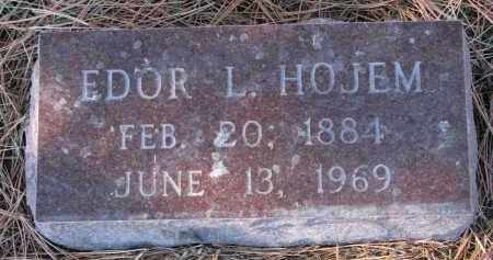 HOJEM, EDOR L. - Yankton County, South Dakota | EDOR L. HOJEM - South Dakota Gravestone Photos