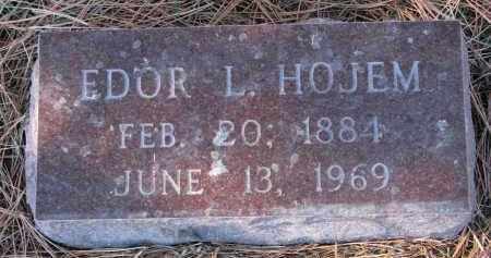HOJEM, EDOR L. - Yankton County, South Dakota   EDOR L. HOJEM - South Dakota Gravestone Photos