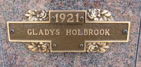 HOLBROOK, GLADYS - Yankton County, South Dakota | GLADYS HOLBROOK - South Dakota Gravestone Photos