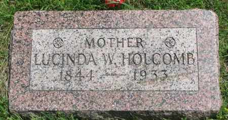 HOLCOMB, LUCINDA W. - Yankton County, South Dakota | LUCINDA W. HOLCOMB - South Dakota Gravestone Photos