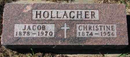 HOLLACHER, CHRISTINE - Yankton County, South Dakota   CHRISTINE HOLLACHER - South Dakota Gravestone Photos