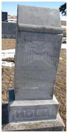 HOLM, ANNE MARTHA - Yankton County, South Dakota | ANNE MARTHA HOLM - South Dakota Gravestone Photos