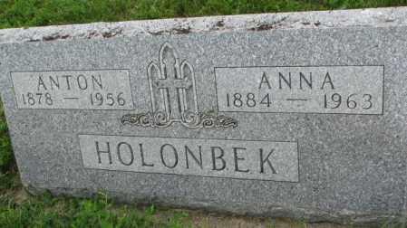 HOLONBEK, ANNA - Yankton County, South Dakota | ANNA HOLONBEK - South Dakota Gravestone Photos