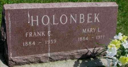HOLONBEK, FRANK C. - Yankton County, South Dakota | FRANK C. HOLONBEK - South Dakota Gravestone Photos